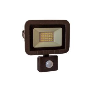 Proiector led 10W (75W) GELUX cu senzor IP65 slim body, negru, multiled, lumina rece