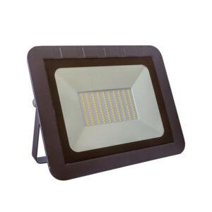 Proiector led 100W (750W) IP65 slim body, negru, multiled, lumina rece